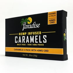 CBD Infused Caramels (4-pack of 10mg each)